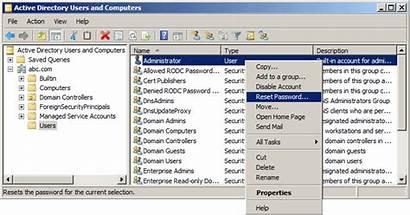 Password Reset Directory Active User Recovery Type