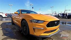 2018 Mustang GT Orange Fury arrives in Edmonton, AB - YouTube