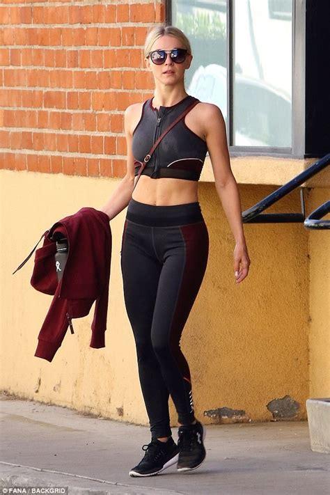 Julianne Hough flashes torso in crop top in Studio City ...