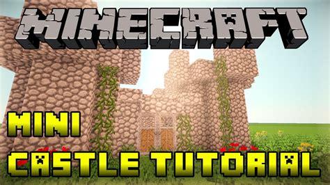 minecraft   build  mini small castle tutorial xboxpspepc fast  easy youtube