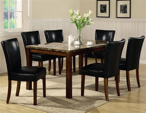 marble and wood dining table telegraph rich cherry wood and marble dining table set