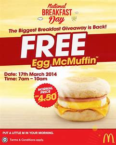 48 SMART: McDonald's@FREE Egg McMuffin (POSTPONED)*!