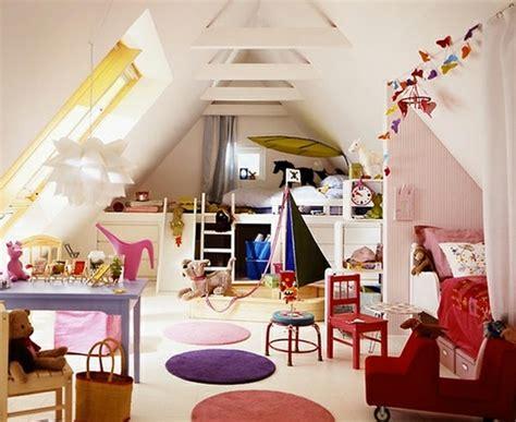 Kinderzimmer Gestalten Im Dachgeschoss tolle dachgeschoss einrichten bunte kinderzimmer und auch