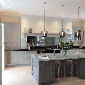 Antique mirror splashback in kitchen kitchen ideas for Interior design kitchen splashbacks