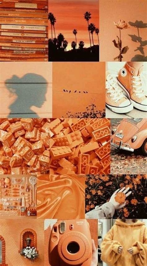 boujee aesthetic wall collage kit orange etsy in 2021