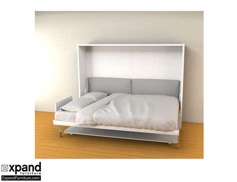 Horizontal Queen Murphy Bed Desk