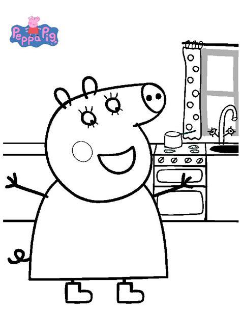 kids n fun 20 coloring pages of peppa pig