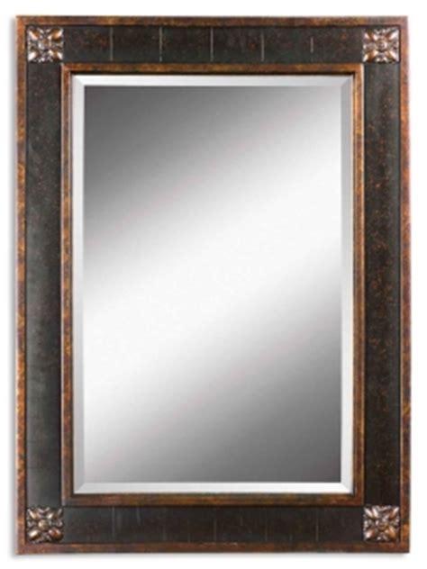 Distressed Bathroom Vanity Mirror by Bergamo Vanity Distressed Chestnut Brown Rectangular