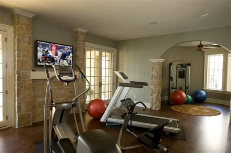 exercise room traditional home gym indianapolis