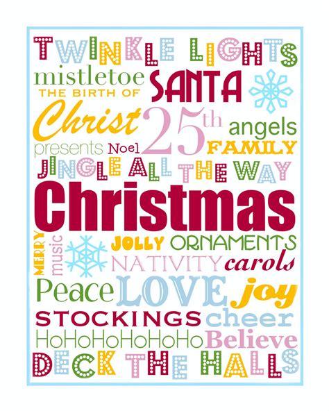 The Jacobs Clan Christmas Printables