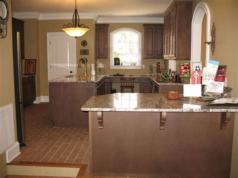 brick floor in kitchen chicago brick flooring with granite counter tops 4883