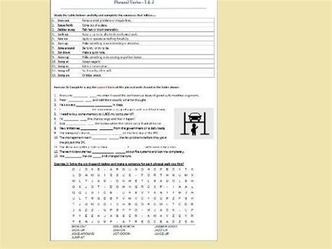 phrasal verbs beginning    revision worksheet