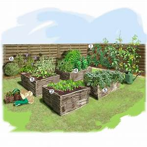projet amenagement jardin potager au carre potager With idee d amenagement de jardin 2 jardin verger jardin potager jardineries truffaut
