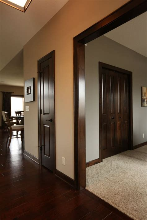 Interior Doors   dark stained poplar doors and mouldings