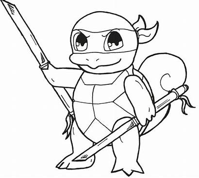 Squirtle Pokemon Coloring Pages Ninja Printable Activities
