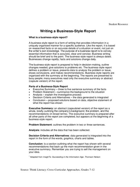 business report template   templates   word