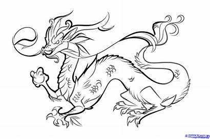 Dragon Chinese Easy Draw Step Drawing Dragons