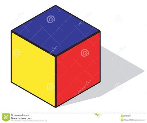 um colors cubo di colore primario illustrazione vettoriale