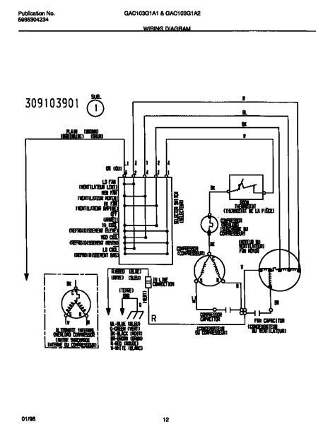 frigidaire window air conditioner wiring diagram choice