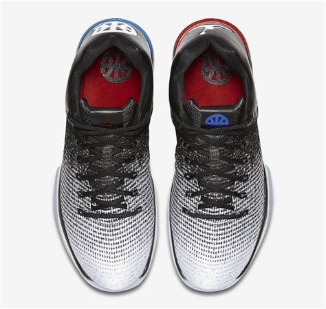 Air Jordan 31 Low Quai 54 White Black University Red