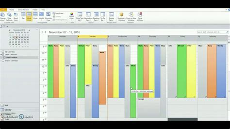 outlook  create staff schedules youtube