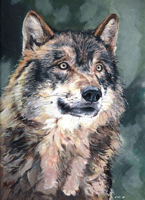 art  luke bennett wolf reflects original acrylic