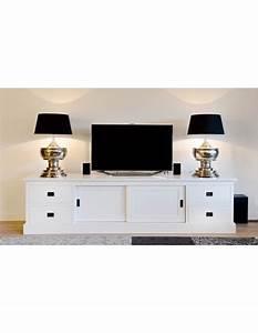 Tv Lowboard 250 Cm : tv schrank wei lowboard wei mit schiebet ren sideboard landhaus massivholz breite 250 cm ~ Bigdaddyawards.com Haus und Dekorationen