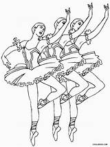 Coloring Stage Pages Printable Getcolorings Ballerina sketch template