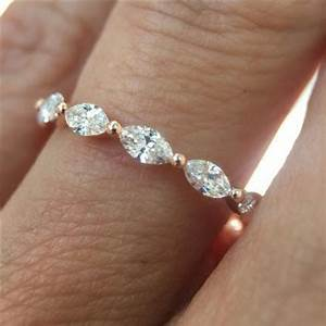 anyone have a marquise cut wedding band With wedding rings marquise cut