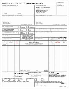 Us customs invoice form hardhostinfo for Us customs invoice form