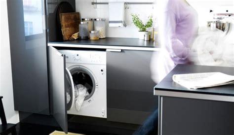 machine a laver cuisine caser le lave linge dans la cuisine