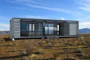 Small Modular Homes. White Eco Modular Homes With A ...