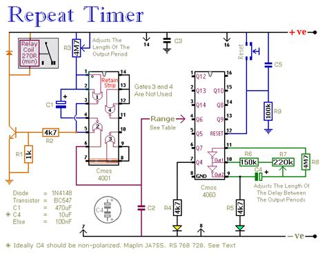 How Build Repeating Interval Timer Circuit Diagram
