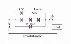 Simple Led Ac Power Indicator Circuit