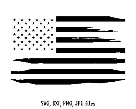 Vintage American Flag Svg – 302+ SVG File for Silhouette
