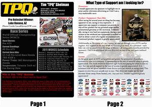 how to get sponsors for atv racing atvcom With free mx resume templates