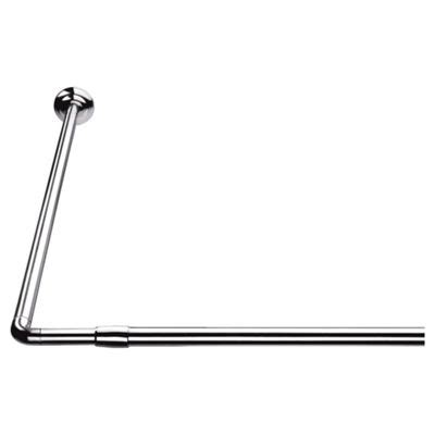 L Shaped Drapery Rod - buy croydex l shape telescopic shower curtain rod from our