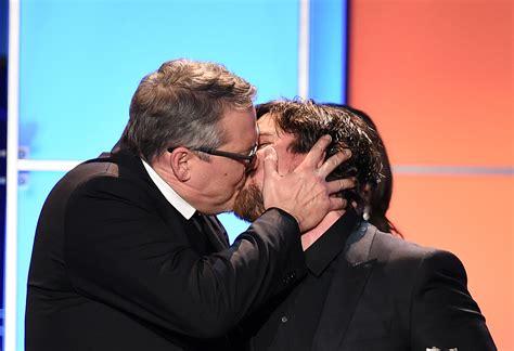 Christian Bale Adam Mckay Kiss Critics Choice
