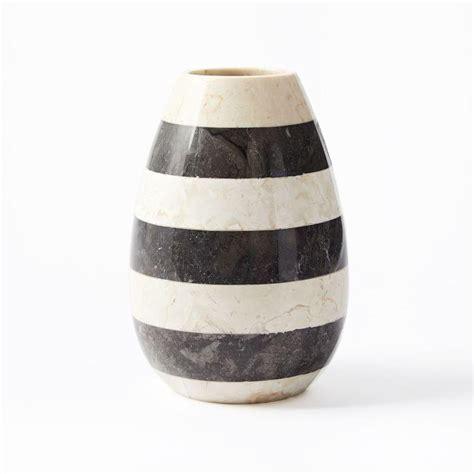 Black And White Vase by Raya Black And White Stripe Vase