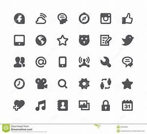 Social Media Network Icon Set Stock Illustration ...