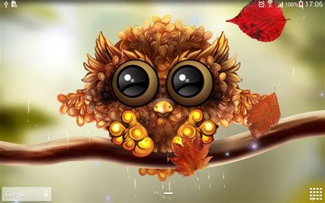 Autumn Animated Wallpaper - autumn owl wallpaper apk for android