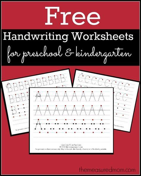 level  handwriting worksheets uppercase  measured mom