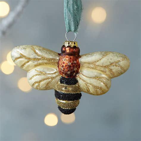 glass honey bee ornament terrain