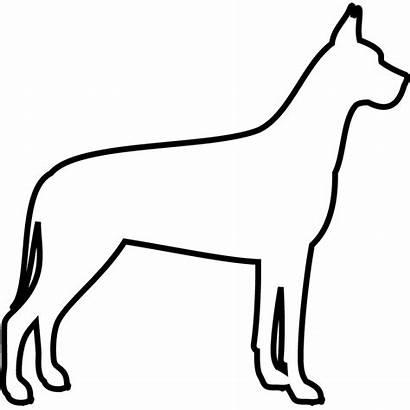 Dane Stamp Outline Rubber Dog Fur Stamptopia