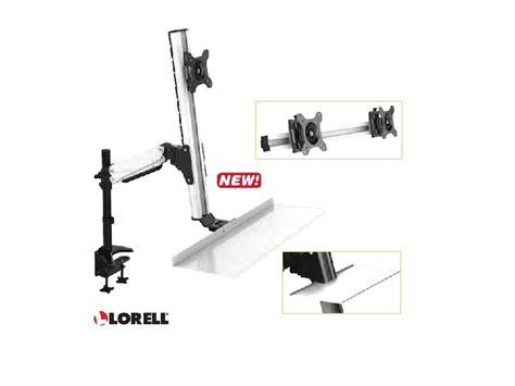 lorell sit to stand desk riser lorell deluxe ergonomic floating sit to stand desk riser