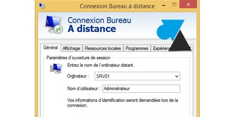 script de connexion bureau à distance mstsc windows