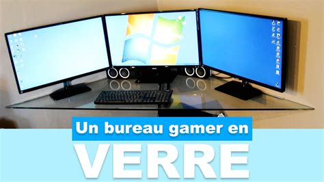 bureau gamer réaliser un bureau gamer en verre pas cher