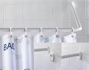 Duschvorhang Für Fenster : winkelstange universal wei stange duschvorhang vorhangstange winkel ebay ~ Markanthonyermac.com Haus und Dekorationen