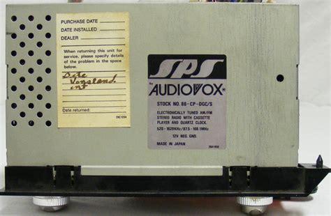 Dealer Installed Audiovox Quartz Lock Stereo Systems For