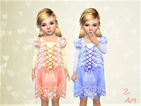 princess dress   zuckerschnute  tsr sims  updates